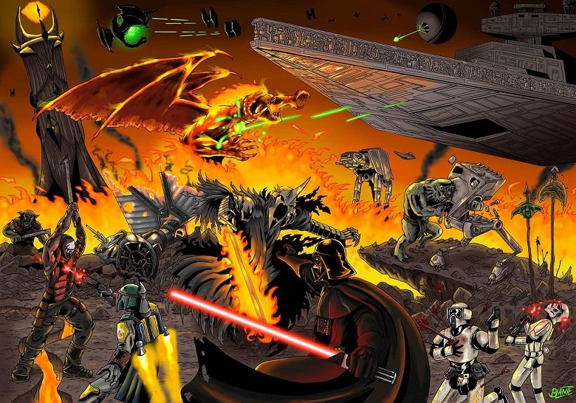 Star Wars und Herr der Ringe in einem von Bruno Lante