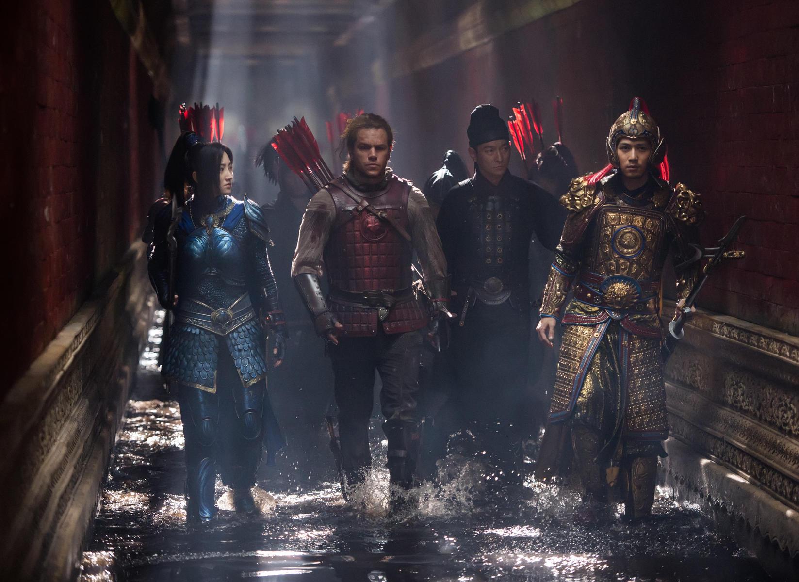 The Great Wall mit Matt Damon Andy Lau Lu Han Tian Jing