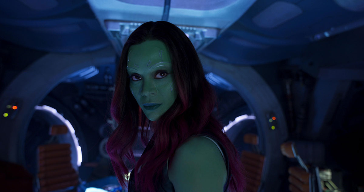 Guardians of the Galaxy Vol 2 Kritik mit Zoe Saldana als Gamora