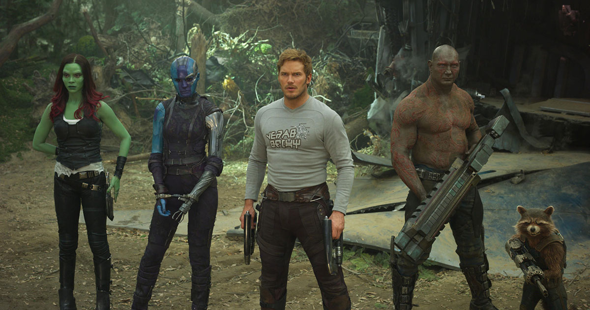 Guardians of the galaxy vol 2 Kritik mit Chris Pratt Zoe Saldana Karen gillan dave bautista drax rocket gamora starlord