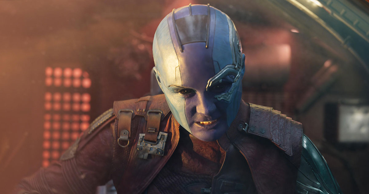 Guardians of the Galaxy Vol 2 Kritik mit Karen Gillan als Nebula