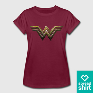 Wonder Woman T-Shirt Rot von Spreadshirt