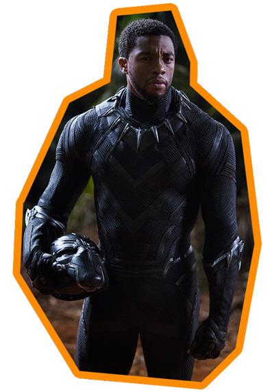 Chadwick Boseman als König T'Challa als Black Panther
