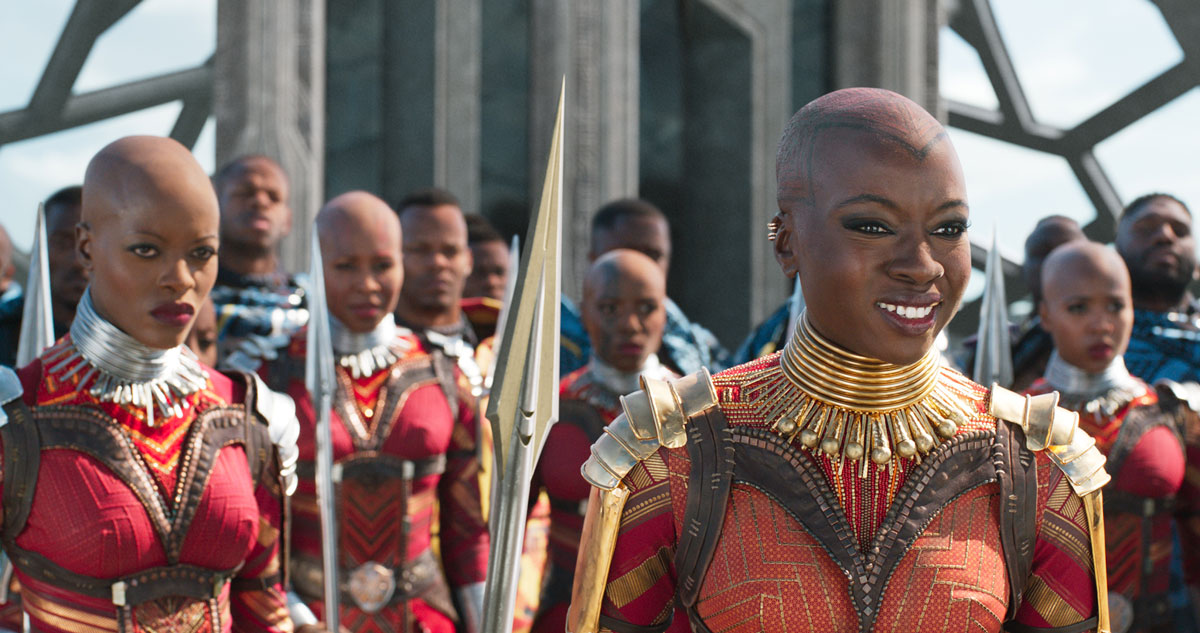 Danai Gurira als Okoye in Black Panther