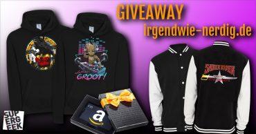 Giveaway Hoodies und College Jacke von Supergeek und ein Amazon Gutschein