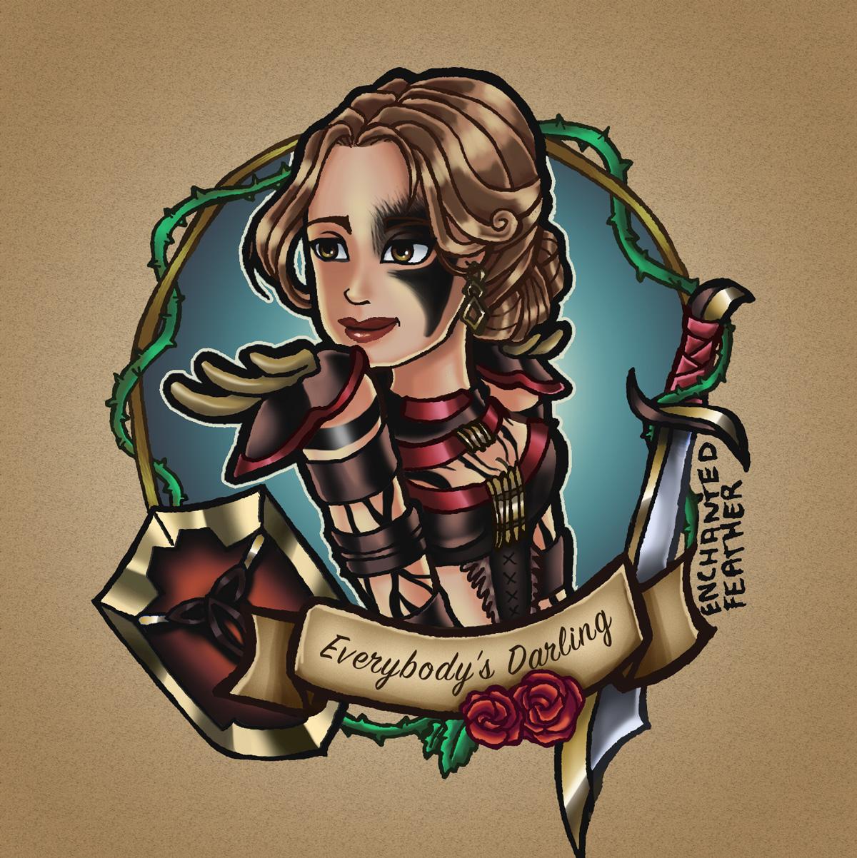 The Elder Scrolls Online ESO TESO Fanart Enchanted Feather Kriegerin Warrior Female