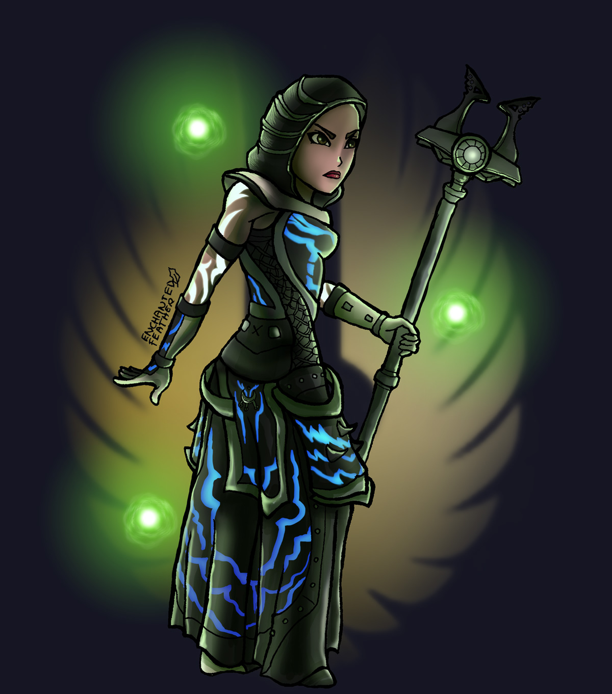 The Elder Scrolls Online ESO TESO Fanart Enchanted Feather Zauberin Magierin Magic Wizard