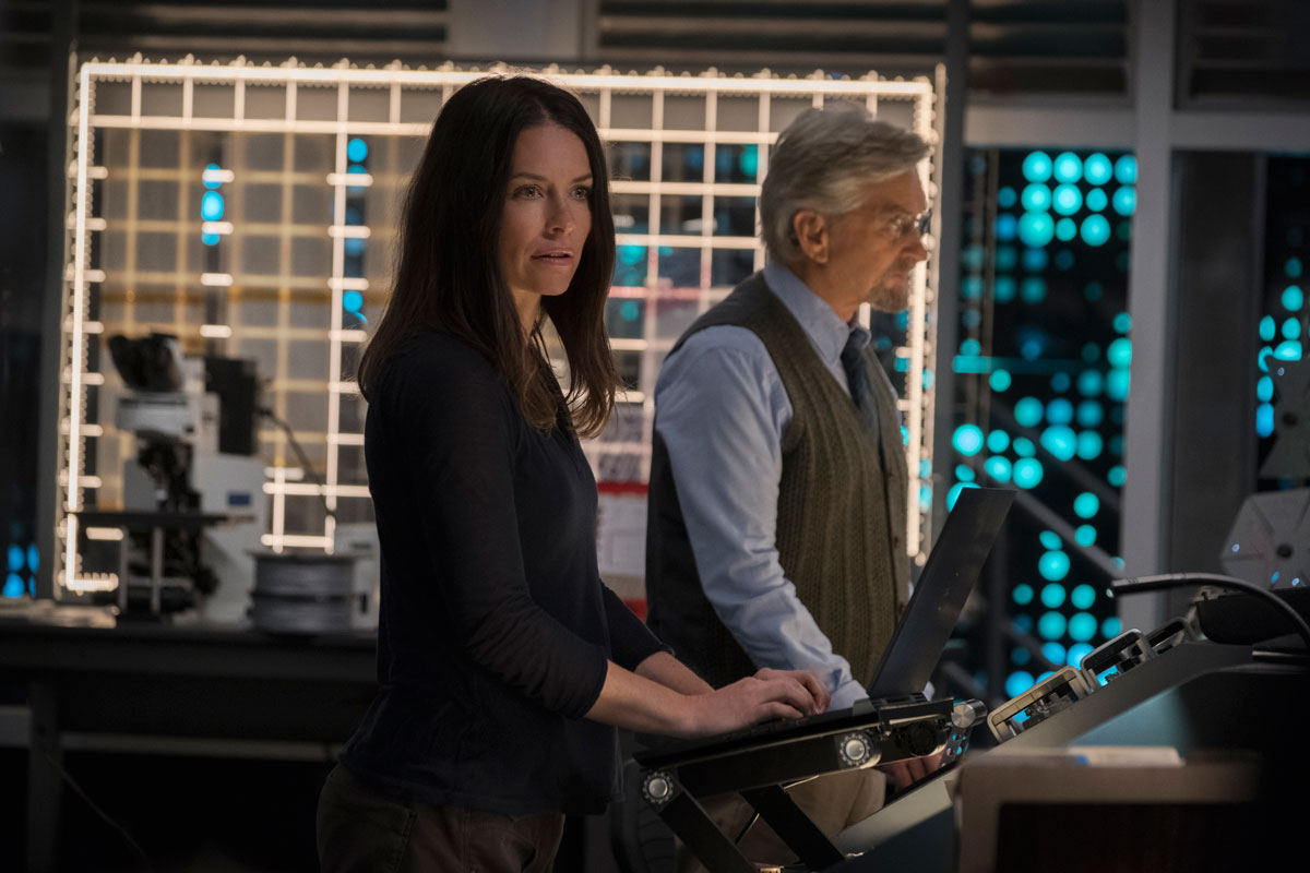 Evangline Lilly und Michael Douglas in Ant-Man and the Wasp