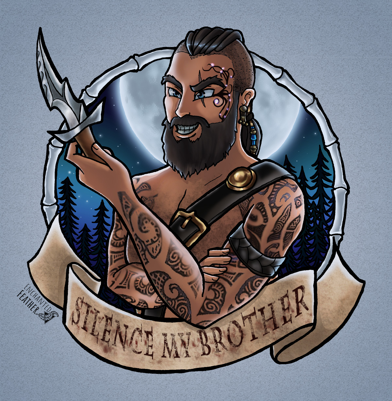 The Elder Scrolls Online ESO TESO Fanart Enchanted Feather Krieger Warrior Rothwardone