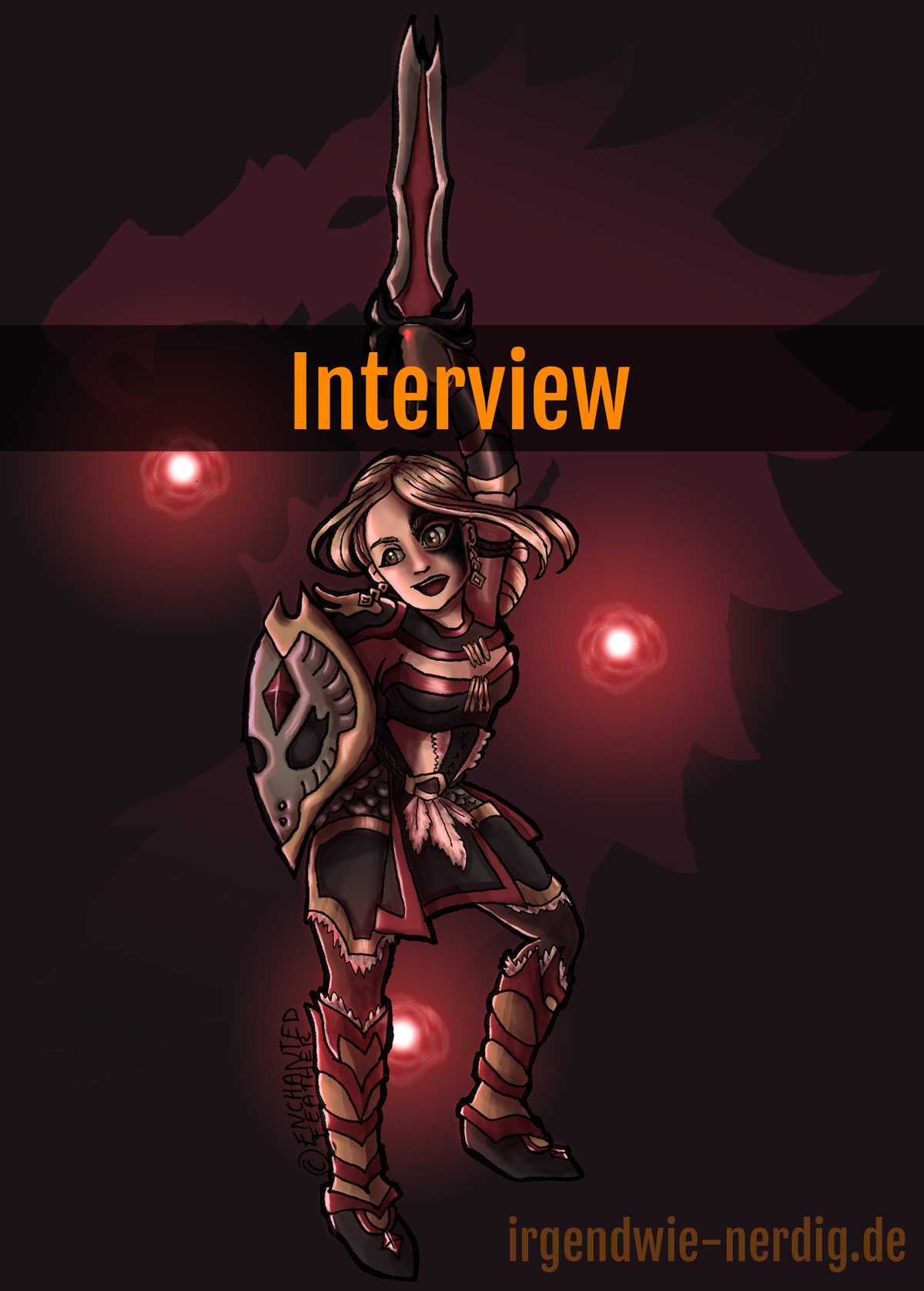 Interview Enchanted Feather Fanart The Elder Scrolls Online TESO ESO Warrior Kriegerin