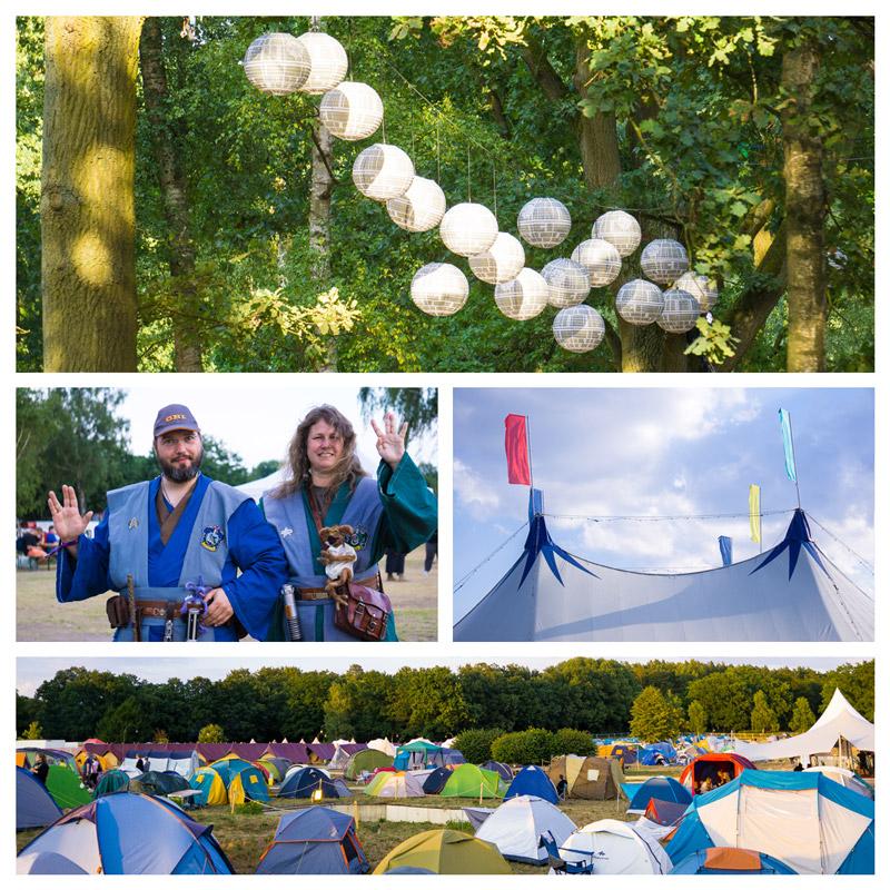 Elbenwald Festival 2018 Camping Dekoration Gewandungen