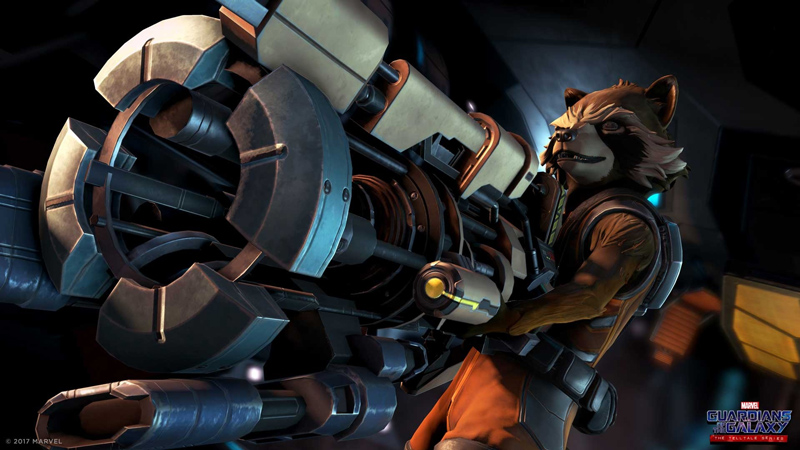 Rocket in Guardians of the Galaxy Telltale Series