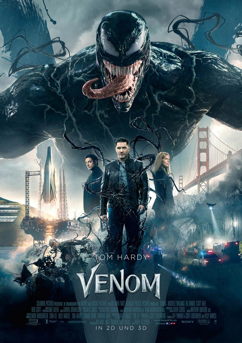 Venom Poster mit Tom Hardy