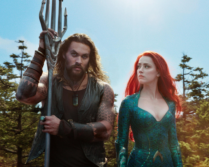 Aquaman mit Mera, Jason Momoa mit Amber Heard