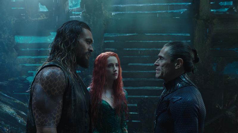 Aquaman mit Jason Momoa und Amber Heard