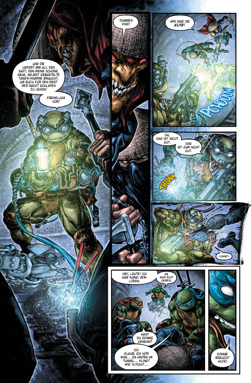 Batman und Teenage Mutant Ninja Turtles - Der dunkle Ritter in New York Comic Rezension Review Kritik