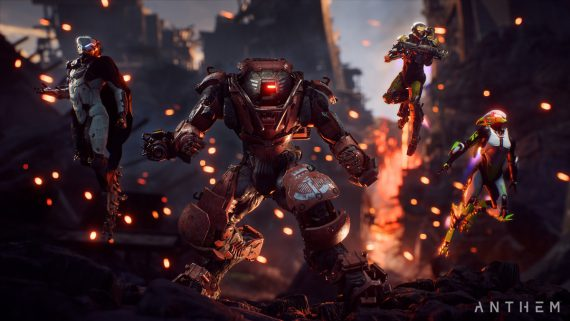 Anthem Titelbild - Storm - Colossus - Interceptor - Ranger - Javelins