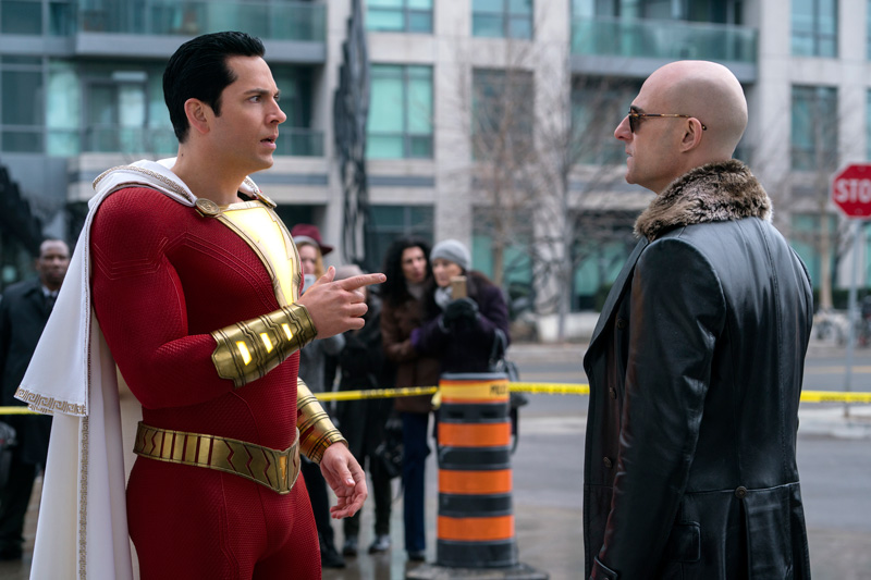 Shazam Kritik mit Mark Strong und Zachary Levi