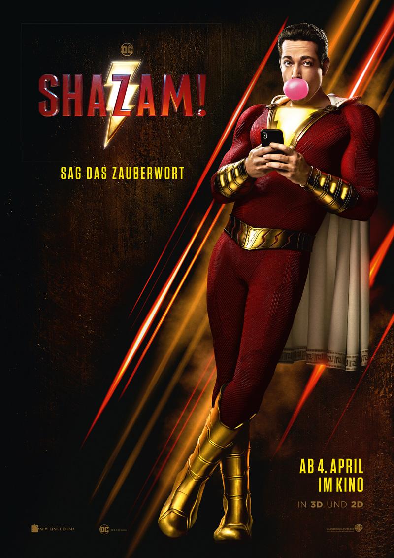 Shazam Poster Kritik mit Zachary Levi