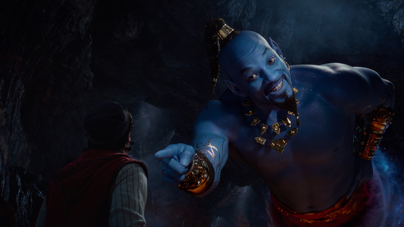 Aladdin Kritik 2019 mit Will Smith als Dschinni