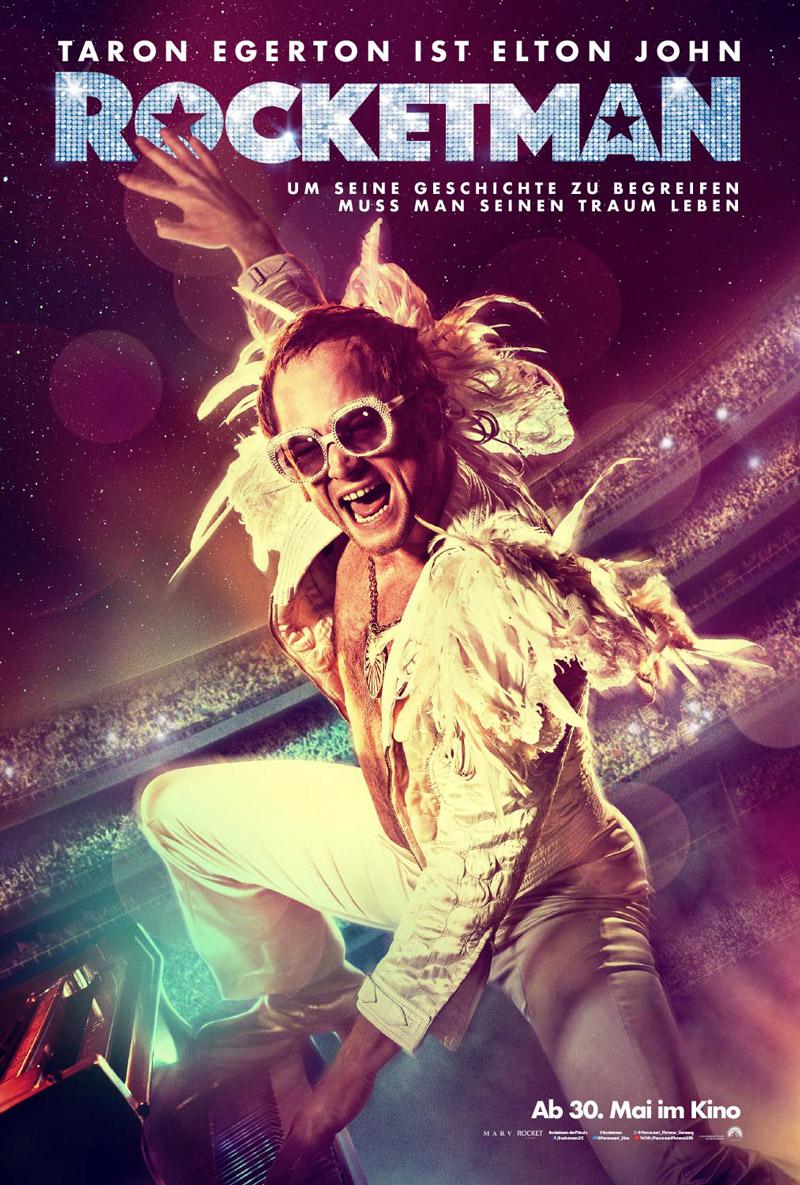 Rocketman Poster mit Taron Egerton als Elton John