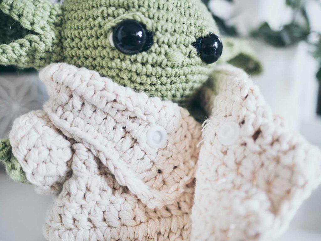 Baby Yoda aus Mandalorian Häkelanleitung