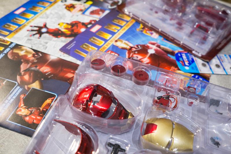 Fanhome Iron Man Statue Modellbausatz Bauphase Marvel